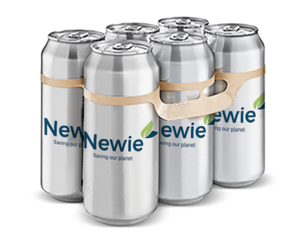 Newie, una alternativa a las anillas para unir packs de bebidas por un tipo de plástico más sostenible